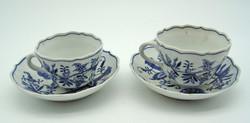 M29 Meisseni porcelán csészék - meseszép gyűjtői darabok