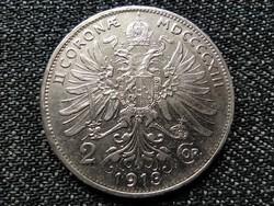 Ausztria Ferenc József .835 ezüst 2 Korona 1913 (id22850)