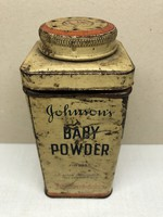 Johnson&Johnson Baby powder, babapúderes fém doboz 19x5,5 cm