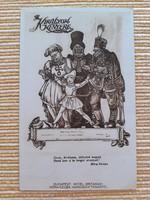 Régi képeslap 1933 Budapest Hotel Britannia Móra-szoba Haranghy tanár Szondy söröző