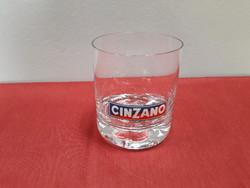 1 db Cinzano feliratú üveg pohár