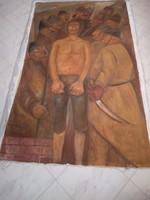 BAKÁNYI GYULA FESTMÉNY 180 x 110 cm