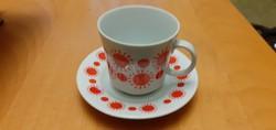 Alföldi napocskás kávéspohár kicsi tányérkával