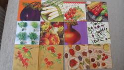 10 db Szalvéta Zöldség, fűszer
