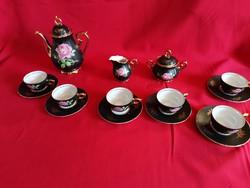 Barokk rózsás kávés szervíz!!!!