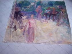 BAKÁNYI GYULA FESTMÉNY 110 x 140 cm