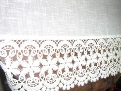 Álomszép különleges vintage csipkés vitrázs függöny
