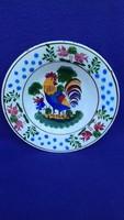 Antik Hollóházi kakasos tányér