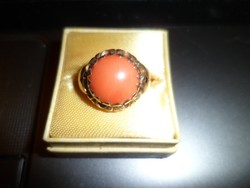 14K arany gyűrű / korall