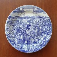 IronstoneTableware  angol jelenetes kék porcelán tányér