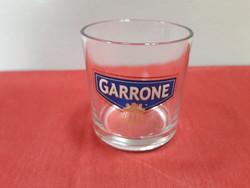 1 db Garrone feliratú üveg pohár