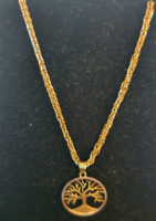 Eladó egy 14karátos magyar fémjeles aranylánc,életfa medállal!