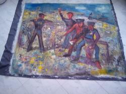 BAKÁNYI GYULA FESTMÉNY 120 x 150 cm