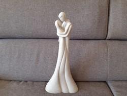 Leonardo collection műgyanta gránit kő keverék szobor, szerelmes pár.
