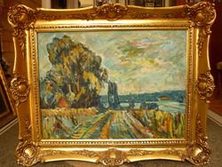 Eladó Monos József: Táj című olajvászon, Képcsarnokos festménye