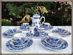 Hutschenreuther Zwiebelmuster Maria Theresia német porcelán teás készlet