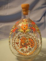U13Nemesi Címer Olasz tűzzománc antik palack 22 cm