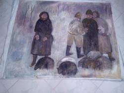BAKÁNYI GYULA FESTMÉNY 100 x 130 cm