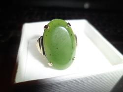 Antik arany gyűrű / nefrit