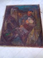BAKÁNYI GYULA FESTMÉNY 130 x 110 cm