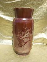 Zsolnay Sinkó tervezte extra ritka váza. 41 cm. 9407 formaszámmal.
