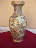Egy gyönyörű nagyméretű madaras diszítésű váza, padló váza, 42 cm.