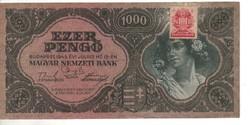 10000 pengő 1945 hibás bélyeg