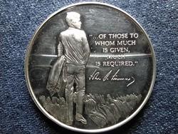 USA John F. Kennedy Azoktól akik sokat adnak... ezüst emlék medál eredeti tokban PP (id39691)