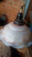 Retro fodros lámpa búra