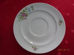 Alföldi porcelán, tavaszi virágmintás teáscsésze alátét, átmérője 16,3 cm.