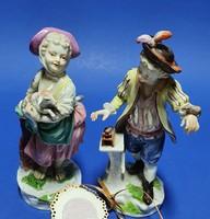 Porcelán fiú és leányka, párban