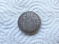 Anglia 1/2 korona 1916 13.90 gramm 925 - ös ezüst 02
