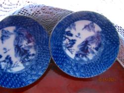2 db   csodás  japán kék rizses leveses tál