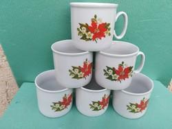 6 db Zsolnay porcelán bögre