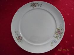 Alföldi porcelán, tavaszi virágmintás kerek húsos tál, átmérője 28 cm.