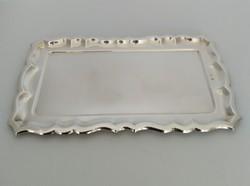 Ezüst tálca 14 × 24 cm