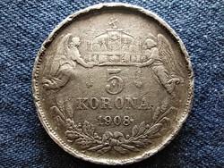 Ferenc József (1848-1916) .900 ezüst 5 Korona 1908 KB (id49371)