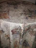 Vintage stílusú pasztell színvilágú sötétítő függöny