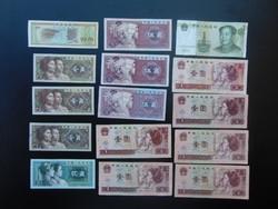 15 darab bankjegy LOT Japán - Kína