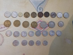 30 darab régi magyar fém pénz