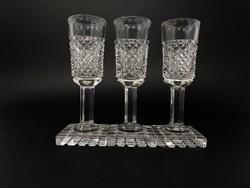 3 darab különleges likőrös pohár - Hibás