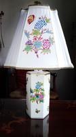 Elegáns Herendi QueenVictoria asztali lámpa új szerelékkel