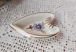 Gyönyörű Zsolnay 8*11 cm-es  porcelán  szív alakú szíves kicsi asztalközép, kínáló