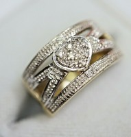 Gyémántos  arany 14 kr-os gyűrű
