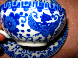 Nippon kék tojáshéj csésze és tányér