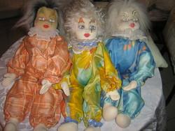 Antik kézzel festett bohóc ruha babák