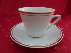 Alföldi porcelán, arany szegélyes teáscsésze + alátét.