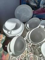 Hófehér - német -leveses tálkák tányérral