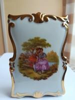 Limoges France Authentique, vitrin állapotú, szép jelenetes asztali porcelán kép