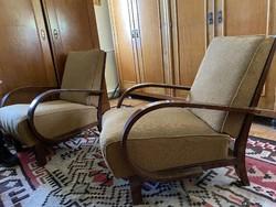 1940/50-es évekből származó art deco fotelek és heverő